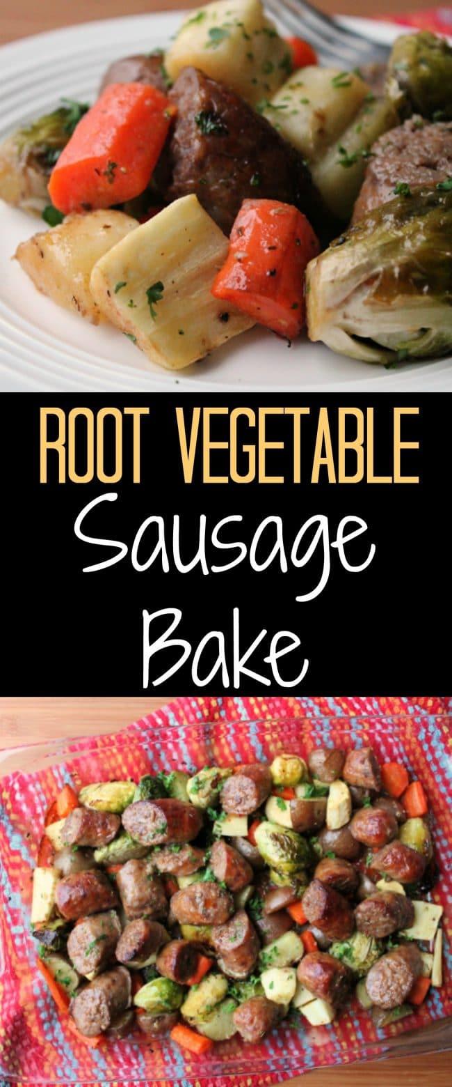 Root Vegetable Sausage Bake Recipe