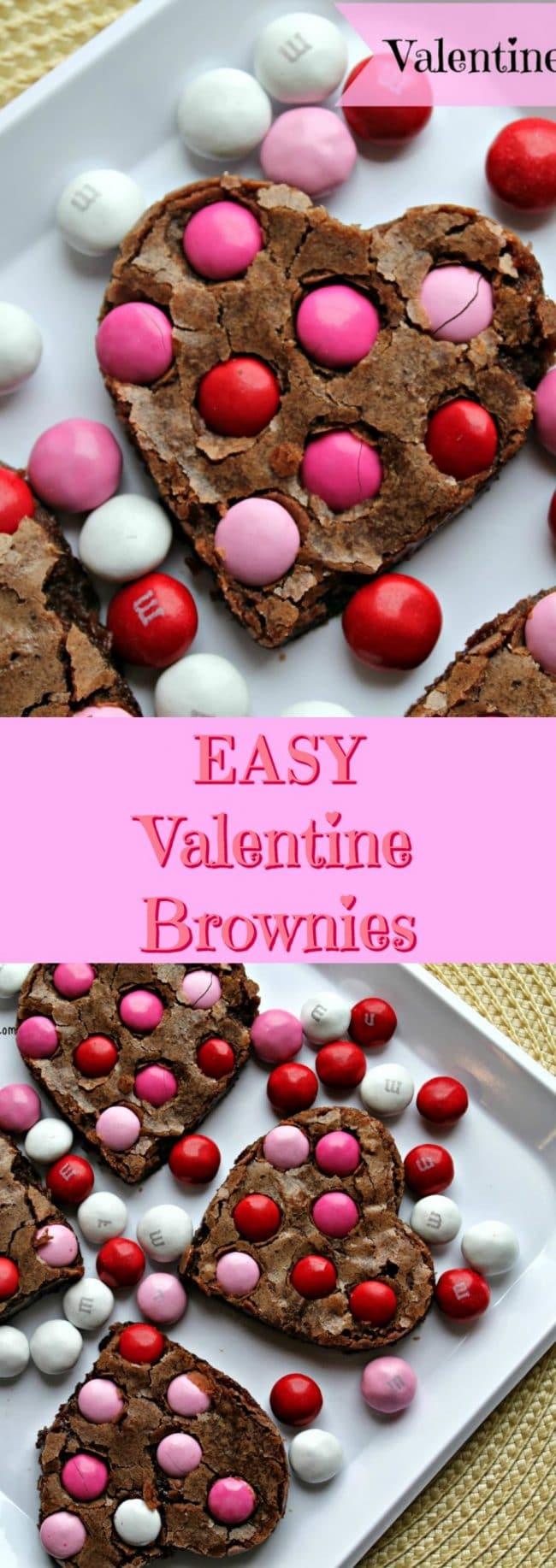 easy valentine brownies