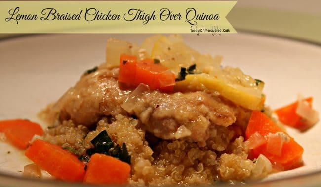 Lemon Braised Chicken Thigh Over Quinoa