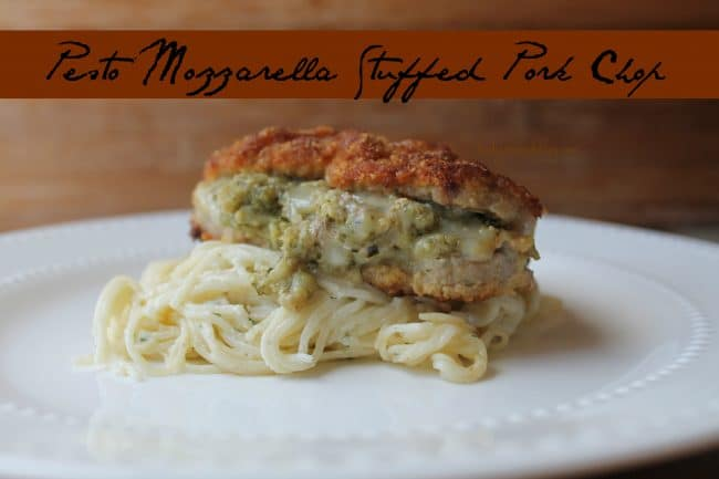Hello, Pesto Mozzarella Stuffed Pork Chops, I think I am in love with ...