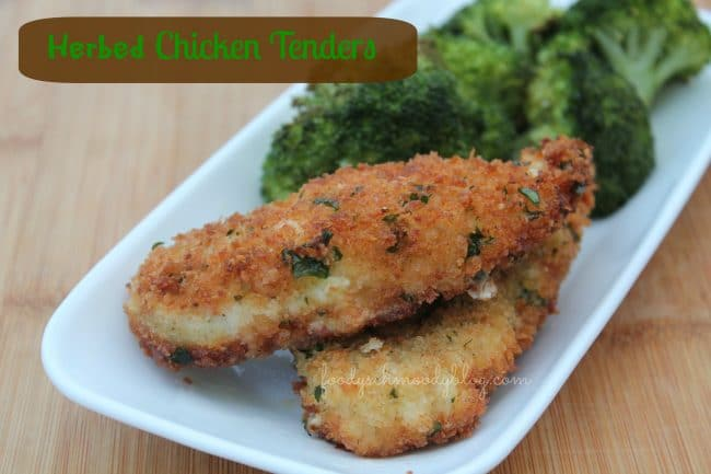 herbed chicken tenders foodyschmoodyblog.com #chicken