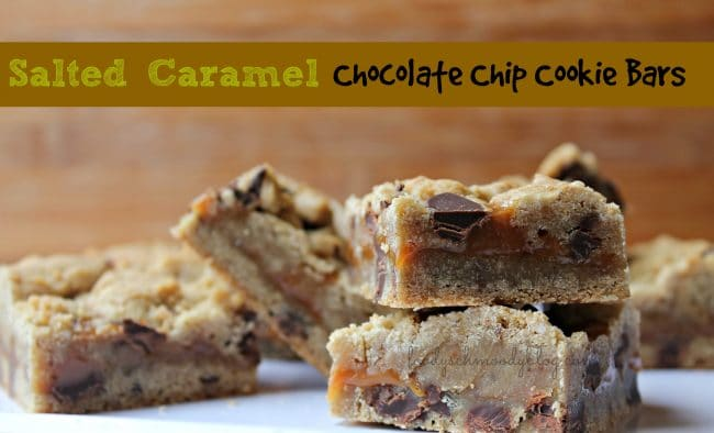 Salted Caramel Chocolate Chip Cookie Bars - Foody Schmoody ...
