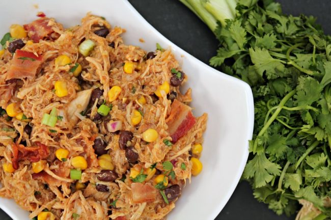 Crock Pot Bbq Chicken Quinoa Bowls Foody Schmoody Blog