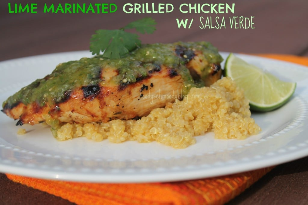 Lime Marinated Grilled Chicken with Salsa Verde
