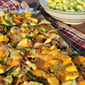 Grilled Vegetable Nachos