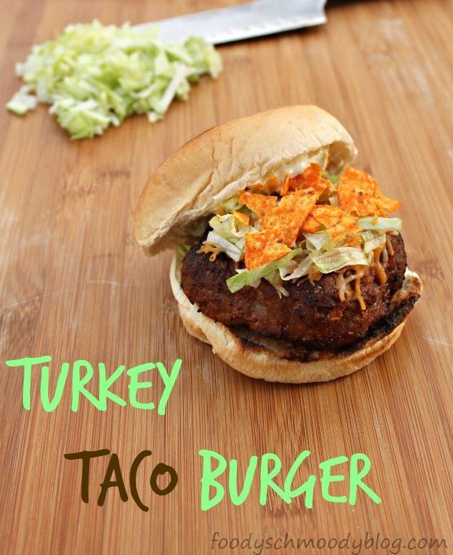 Turkey Taco Burger by foodyschmoodyblog.com