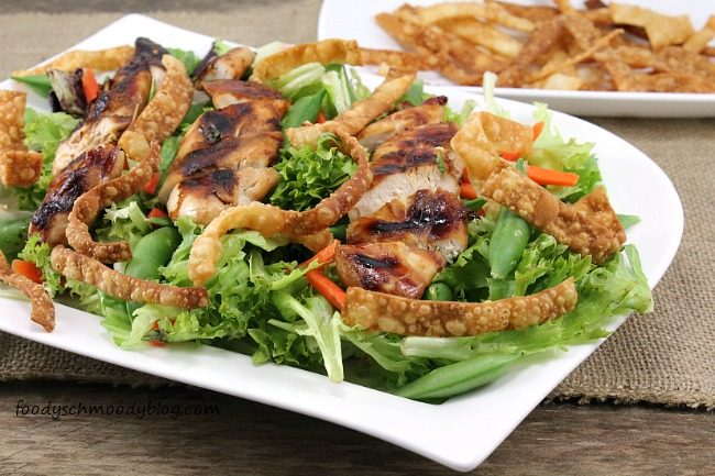 Asian Grilled Chicken Salad with Sunbutter Vinaigrette - Foody ...