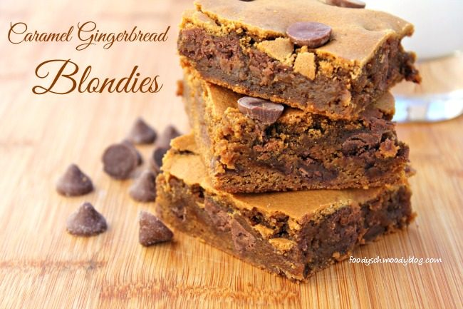 Caramel Gingerbread Blondies featuring Nestle Toll House DelightFulls ...