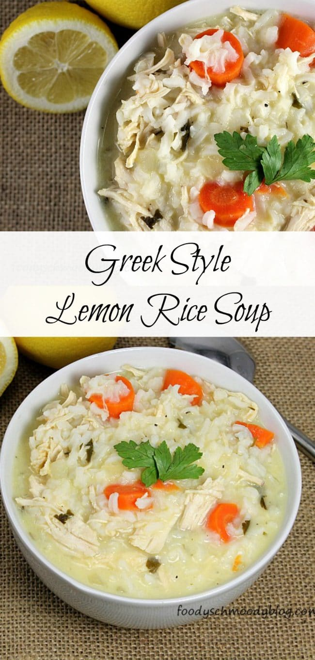 Greek Lemon Rice Soup