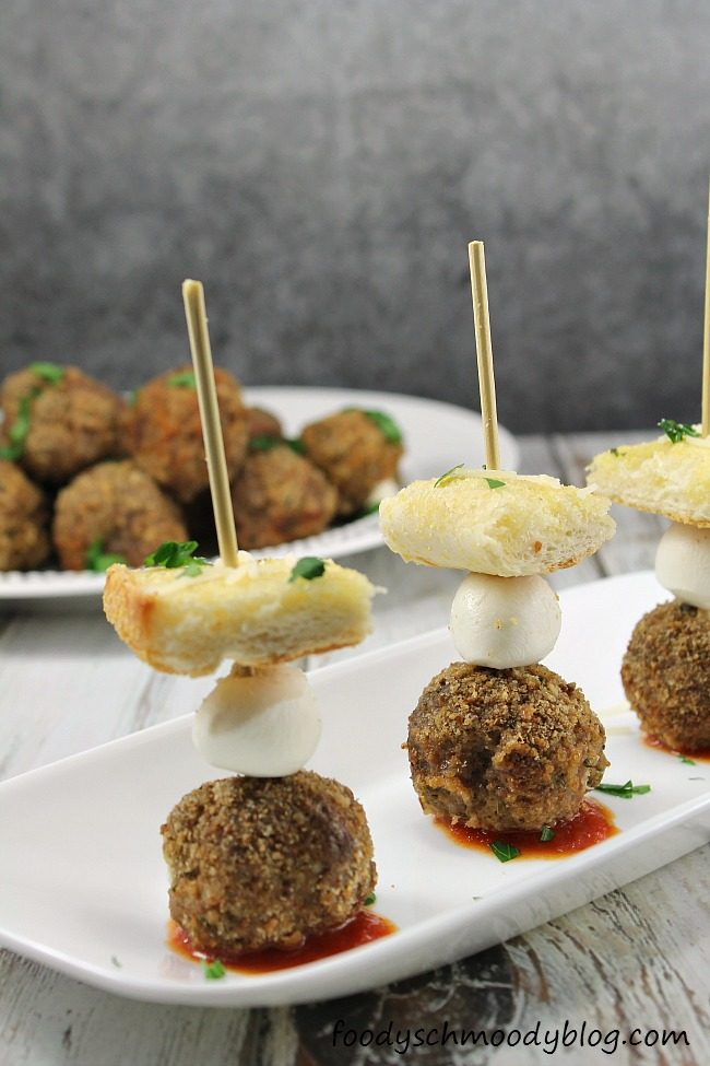 Deconstructed Meatball Sub Bites