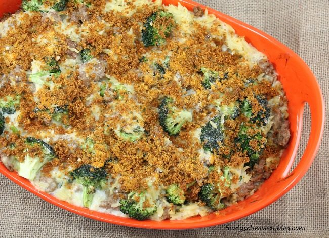 Turkey, Broccoli and Orzo Casserole