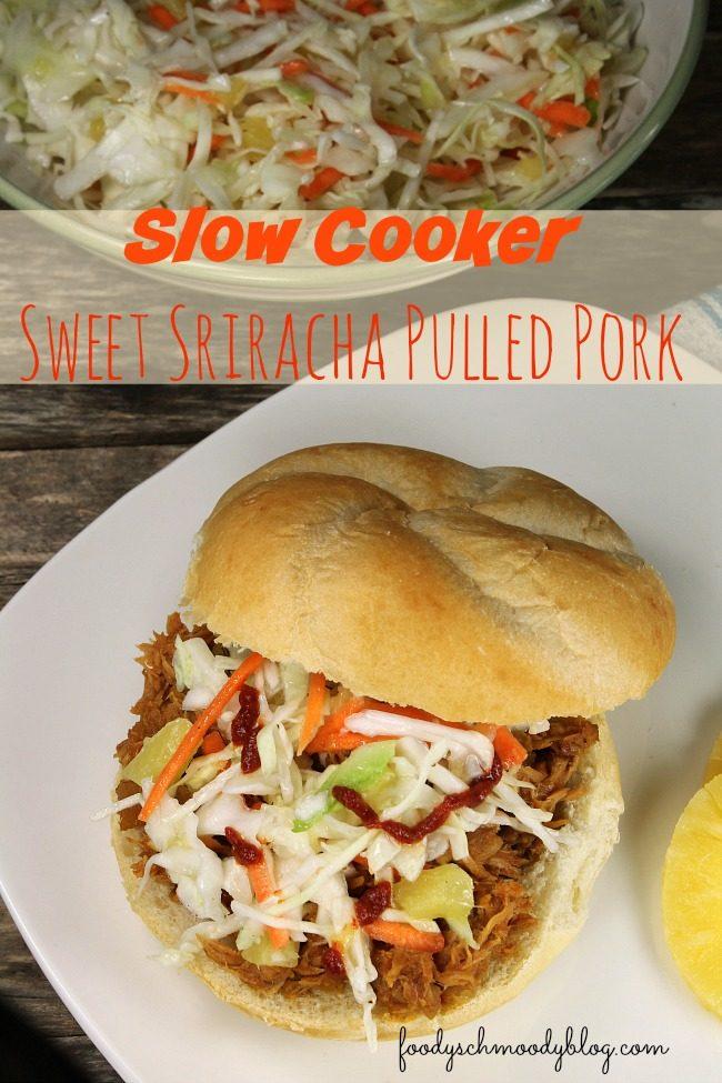 Slow Cooker Sweet Sriracha Pulled Pork