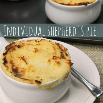 Individual Shepherd's Pie {made with leftovers}