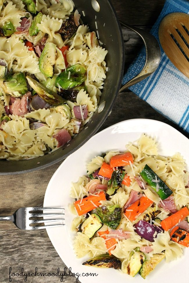 Grilled Vegetable & Prosciutto Pasta
