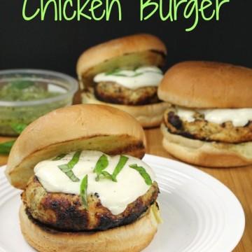 Pesto Mozzarella Chicken Burger