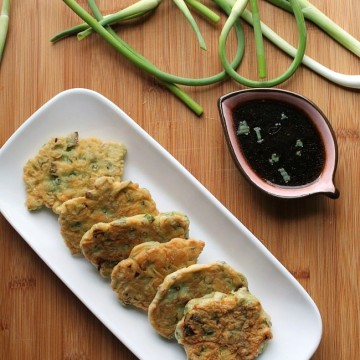 Garlic Scape and Scallion Fritters