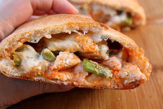 Buffalo Chicken Stromboli - Foody Schmoody Blog | Foody Schmoody Blog