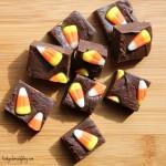 Candy Corn Fudge squares