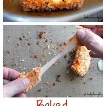 Buffalo Style Baked Mozzarella Sticks