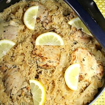 One Pot Lemon Chicken & Rice