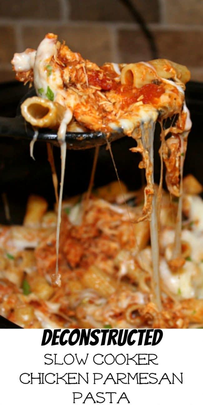 Deconstructed Slow Cooker Chicken Parmesan Pasta Foody