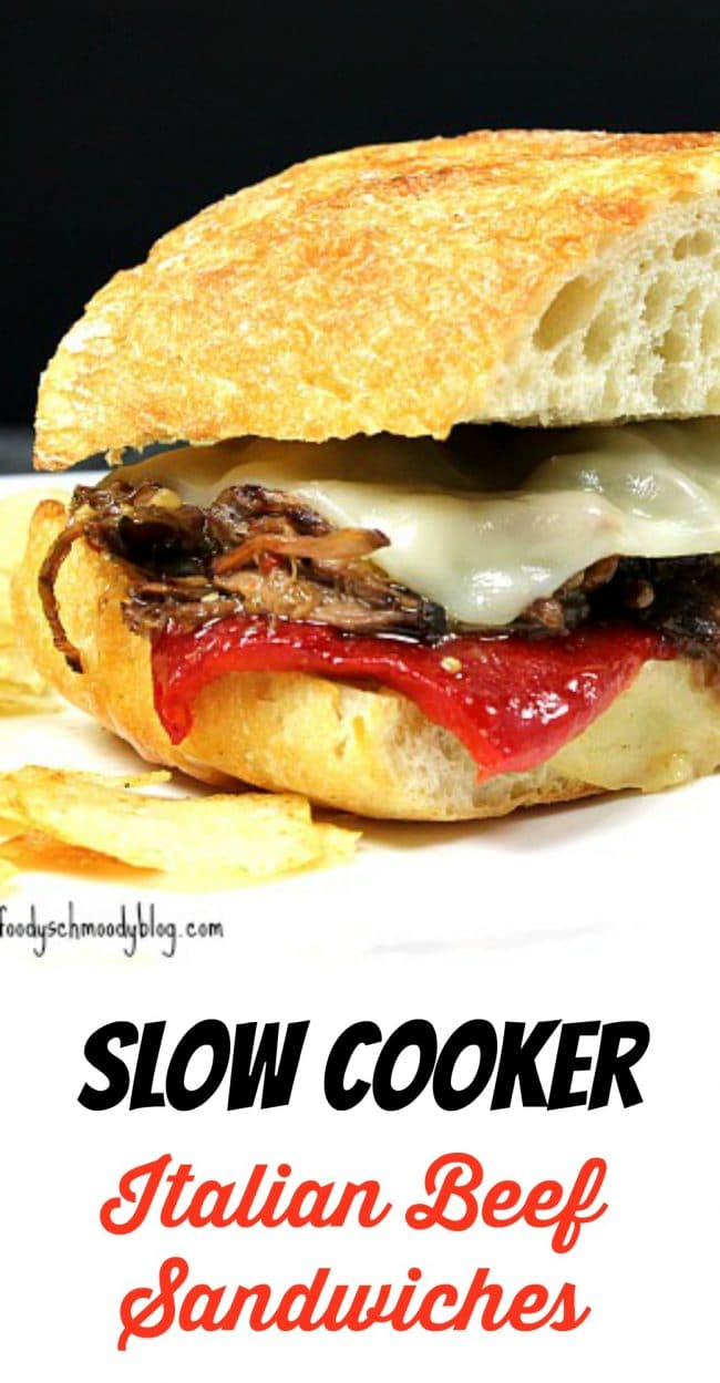 Slow Cooker Italian Beef Sandwiches – A beef roast slow cooked in a ...