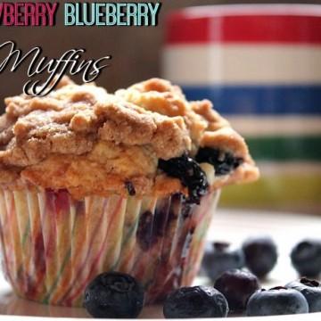 Strawberry Blueberry Muffins