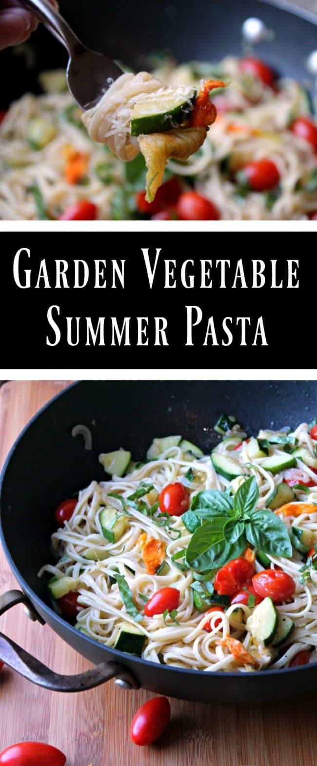 summer vegetable garden pasta