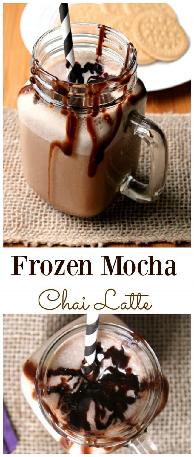 Frozen Mocha Chai Latte - Foody Schmoody Blog | Foody Schmoody Blog