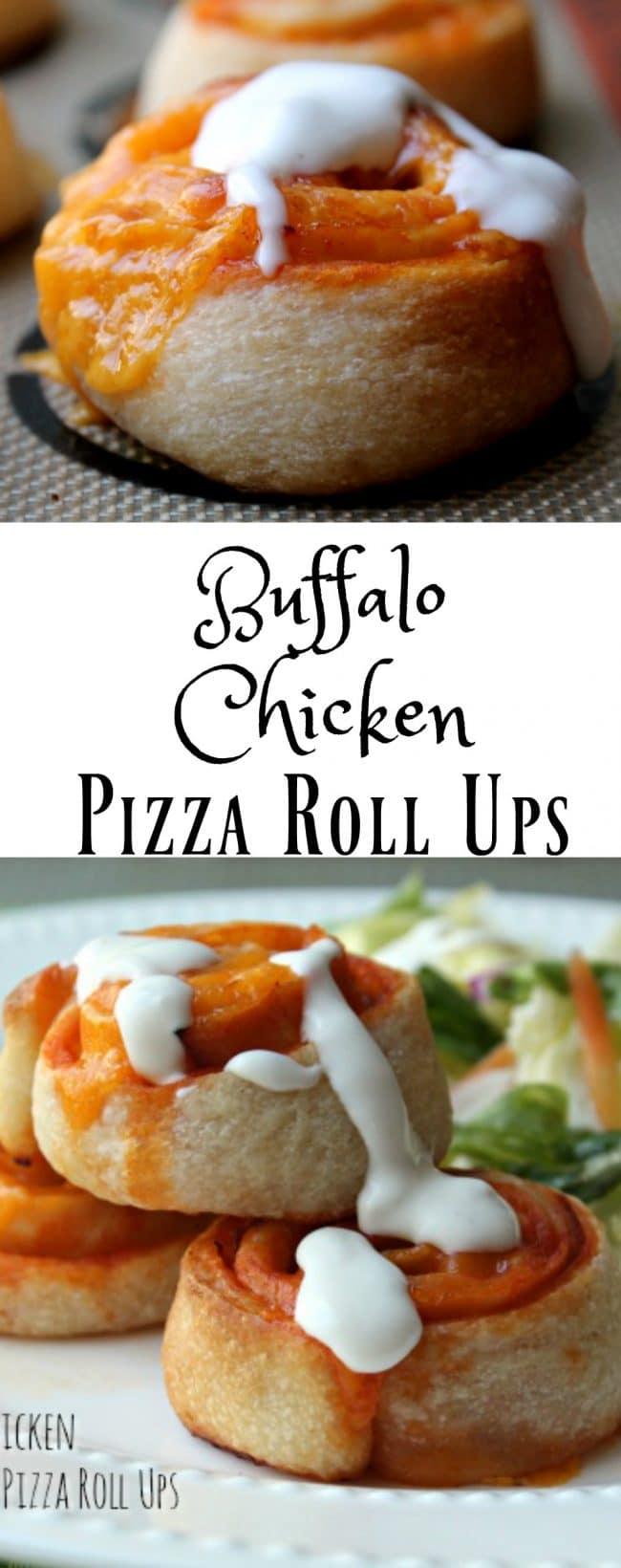 buffalo chicken pizza roll ups