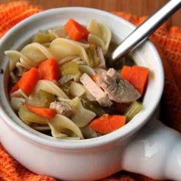 leftover turkey soup www.foodyschmoodyblog.com