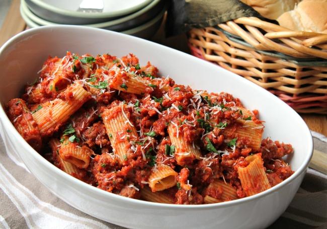 Rigatoni With Sausage Ragu Recipe — Dishmaps