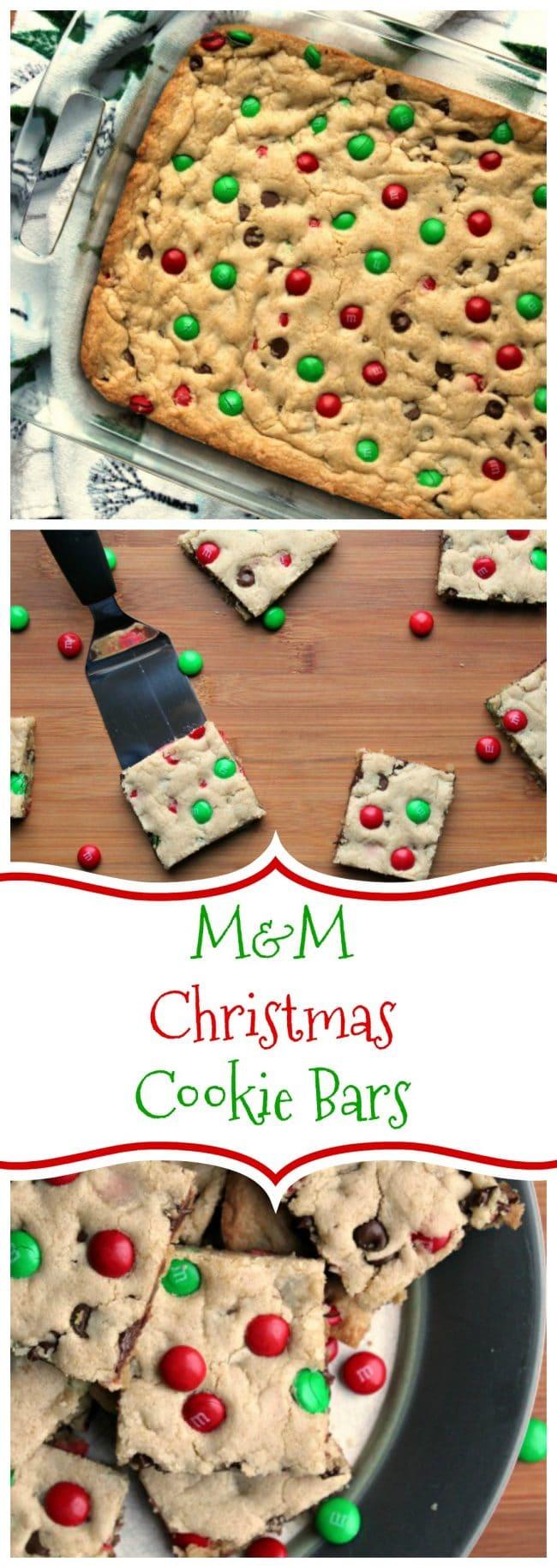 M M Christmas Cookie Bars
