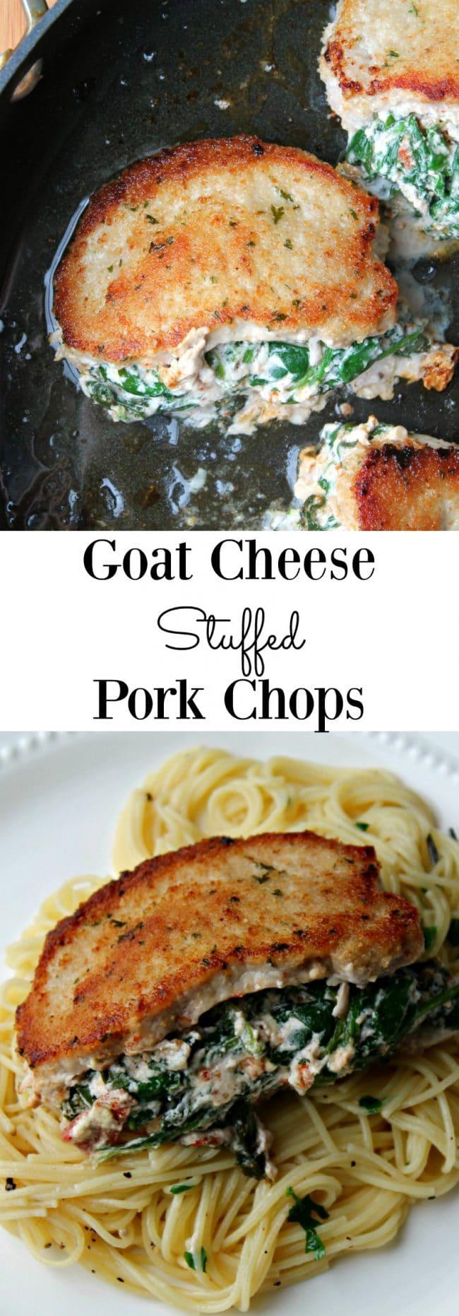 Goat Cheese Stuffed Pork Chops - Foody Schmoody Blog   Foody Schmoody ...