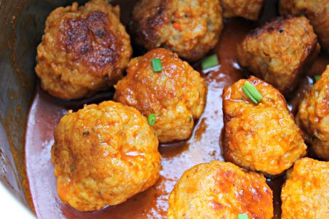 Buffalo Chicken Meatballs Instant Pot