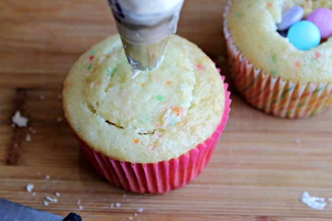 M Amp M Filled Cupcakes Foody Schmoody Blog Foody Schmoody