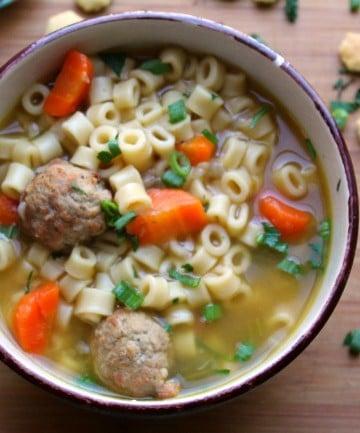 Instant Pot Meatball Soup 15 minutes