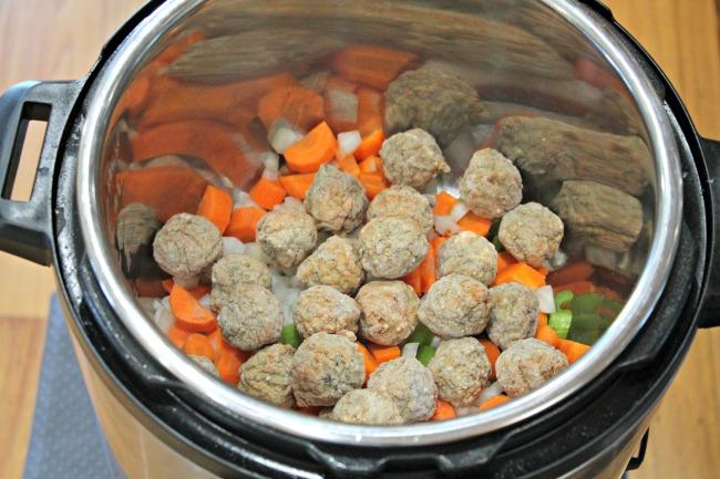 Instant Pot Meatball Veggie Soup
