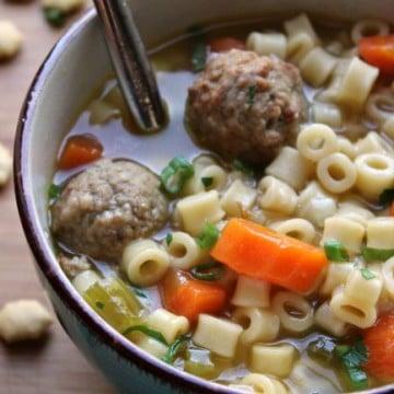 Meatball Veggie Soup