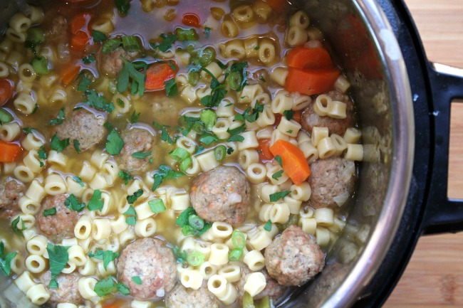 Pressure Cooker Meatball Soup