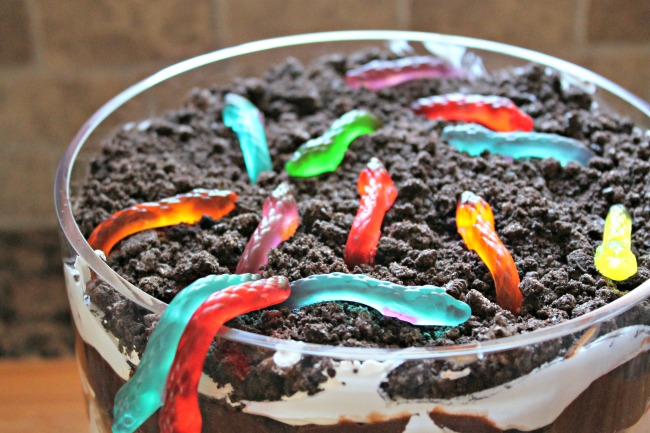 dirt brownie trifle