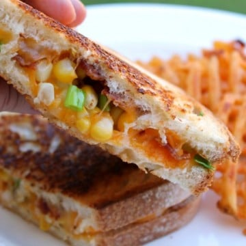 bacon corn grilled cheese