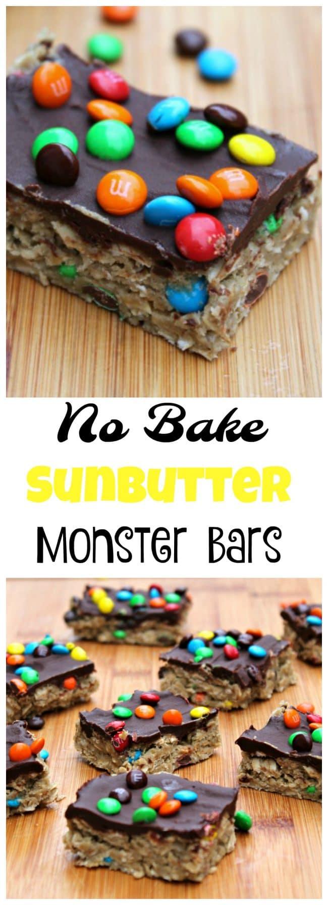 No Bake SunButter Cookie Bar foodyschmoodyblog.com