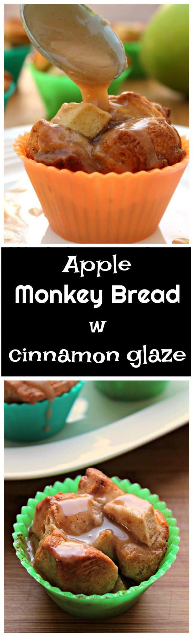 Individual Apple Monkey Bread w Cinnamon Glaze