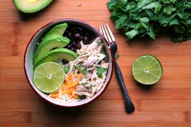 chicken salsa verde bowl