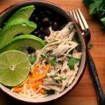 salsa verde chicken rice bowl