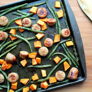 chicken sausage sheet pan meal