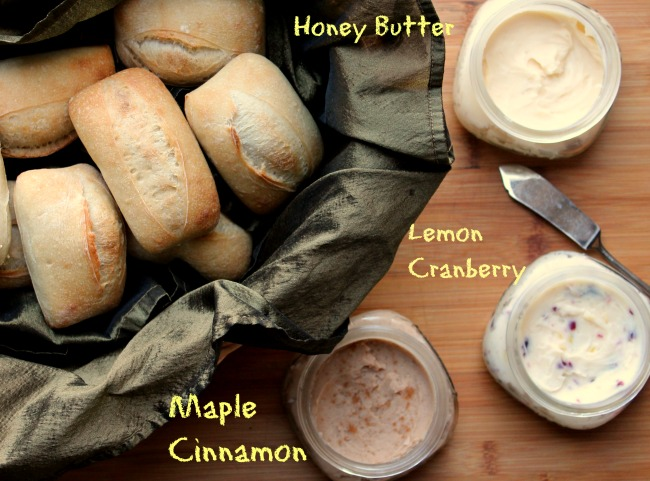 rolls with 3 butters labeled