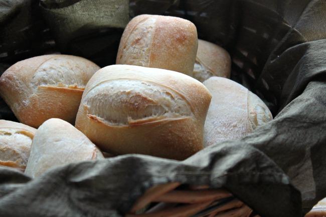 basket of prepared rolls
