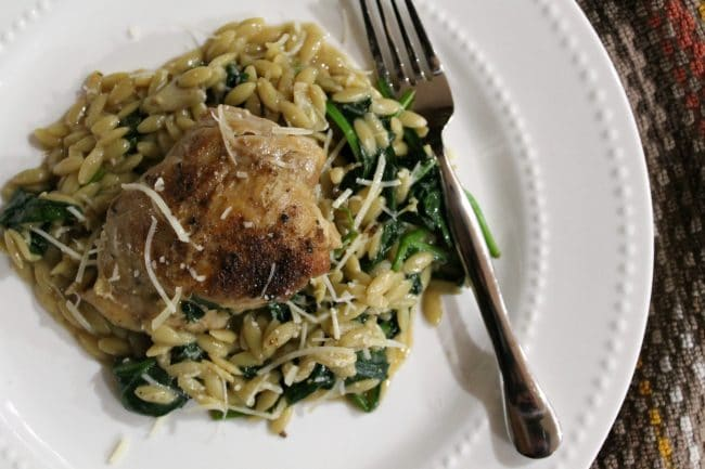 Instant Pot Chicken on Orzo Plated